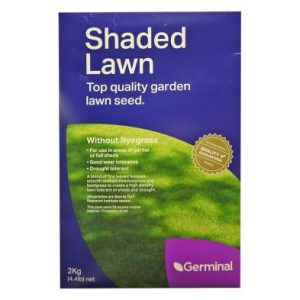 2Kg Shaded Lawn Seed Without Ryegrass 56 Square Meters Coverage