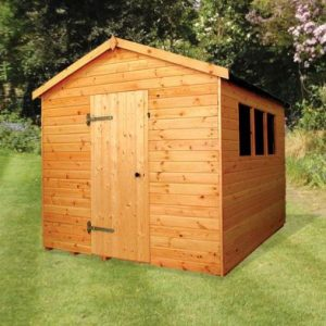 Albany Major Apex Heavy Duty Garden Shed Brown 10' x 8'