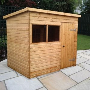 Albany Major Pent Heavy Duty Garden Shed Brown 10' x 6'