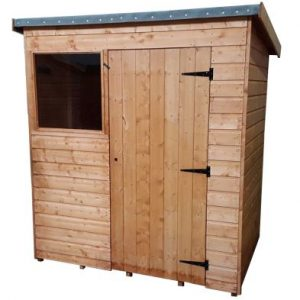 Albany Suffolk Garden Shed Brown 6' x 4'