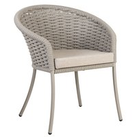 Alexander Rose Cordial Dining Armchair with Cushion - Beige [Charcoal]