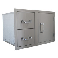 Beefeater Stainless Steel Build-in Outdoor Kitchen Dual Drawer and Single Door Unit
