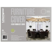 LeisureGrow 8 Seat Round Garden Furniture Set Cover - up to 180cm Table