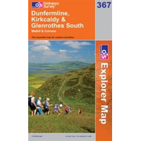 OS Explorer Map 367 Dunfermline, Kirkcaldy & Glenrothes South