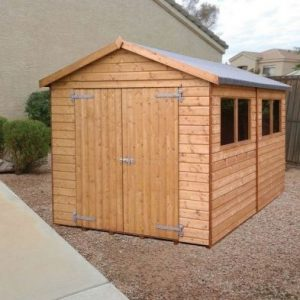 Albany Sheds Major Apex 12' x 10' Apex Shiplap Wood Garden Shed